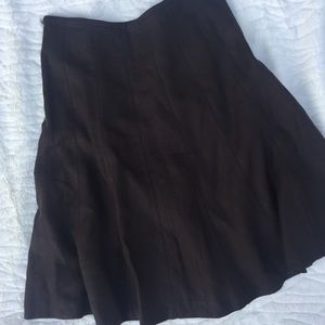 Talbots Rich Brown Linen Flare Skirt | Size 10